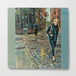Step Arrows Metal Print