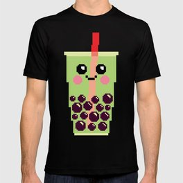 Happy Pixel Bubble Tea T-shirt
