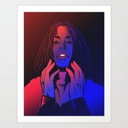 Under The Neon  Art Print