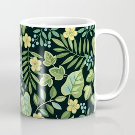 Tropical Leaves and Berries Coffee Mug