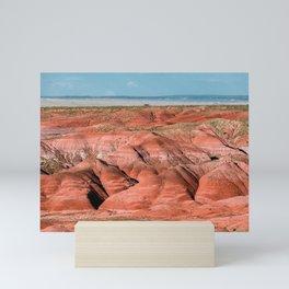 Painted Desert Landscape in Arizona Mini Art Print