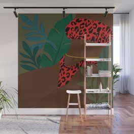 Jungle Fever // Woman, Feminine, Plants, Plant Lady, Nature, Green Wall Mural