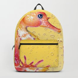 Seahorses Yellow Bubble Backpack