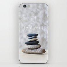 Life in Balance iPhone & iPod Skin