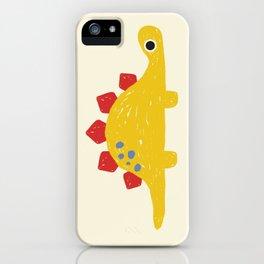 Cute Yellow Stegosaurus Dinosaur iPhone Case