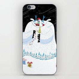 George, the Christmas Yeti  iPhone Skin