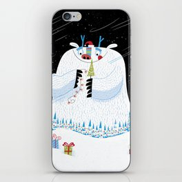 George, the Christmas Yeti  iPhone Skin