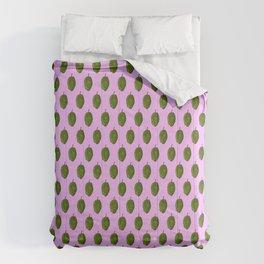 Hops Light Purple Pattern Comforters