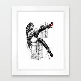 Overknees 2 Framed Art Print