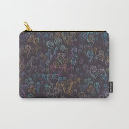 Pixelated Spirals Carry-All Pouch