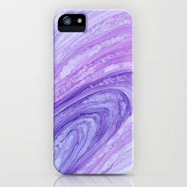 Purple Agate Geode Crystal Slice iPhone Case