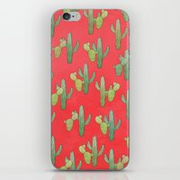 cacti iPhone & iPod Skins featuring Cacti by Megan Dignan