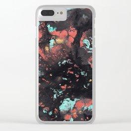 Cosmic Graffiti Clear iPhone Case