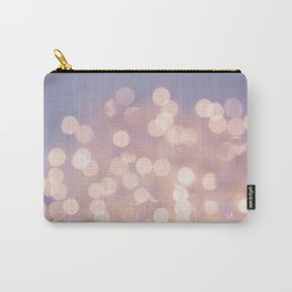 Light Pink Blurry Lights (Color) Carry-All Pouch