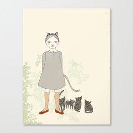 Cat Girl Canvas Print