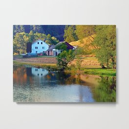 A summer evening along the river II | waterscape photography Metal Print
