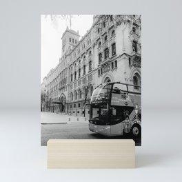 Madrid City Tour BW Mini Art Print