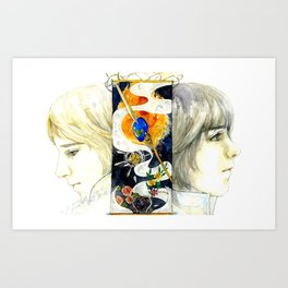 Brothers of the Magical Sapphire Art Print