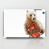 foo fighters iPad Cases featuring Bear Fighters. by beart24