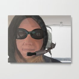 Backseat Flyer Metal Print