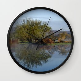Peaceful Reflection Landscape Wall Clock