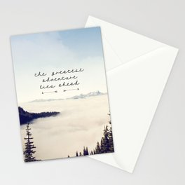 the greatest adventure- mountains Stationery Cards