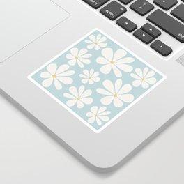 Floral Daisy Pattern - Blue Sticker
