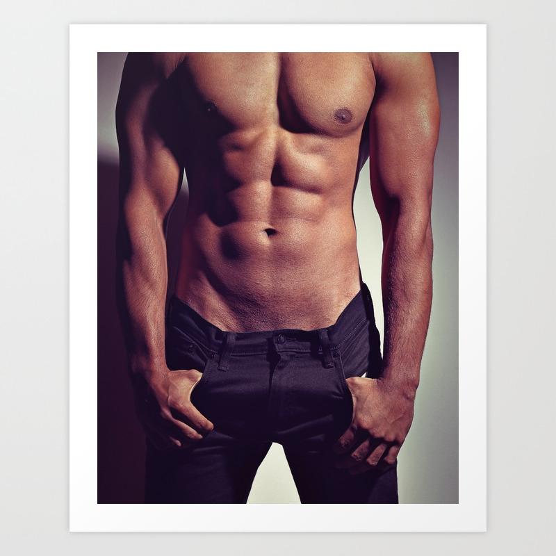 Sexy Male Man S Body Art Print