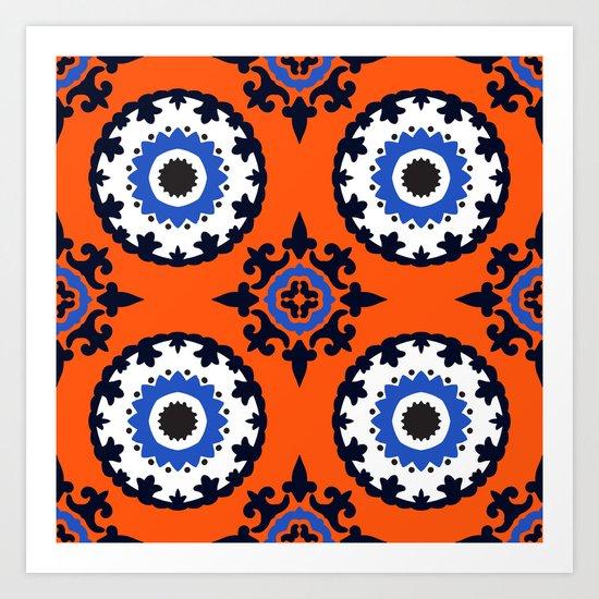 Beautiful suzani patterm Art Print
