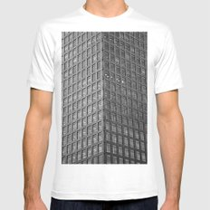 Canary Wharf  Abstract Mens Fitted Tee MEDIUM White