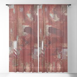 Burgundy Sheer Curtain