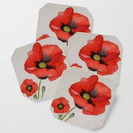Watercolour Poppies Coaster