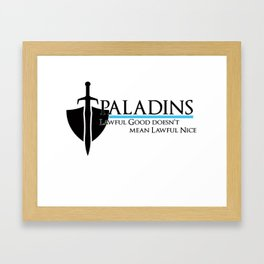 Paladin Framed Art Print