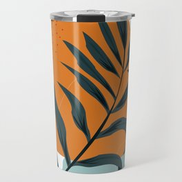 Abstract leaf and colored rocks Travel Mug