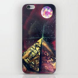 Three Red Sisters Galaxy  Spray Painting iPhone Skin