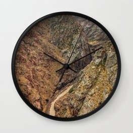 Royal Gorge Landscape with Arkansas River Wall Clock