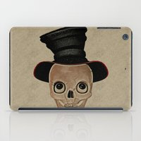 mad hatter iPad Cases featuring Mad Skull Hatter by Texnotropio