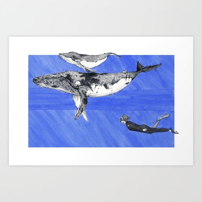 513105769dc823 Whale of a Time Art Print by peterkasper