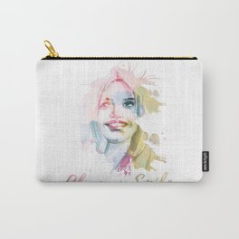 Always smile! Hand-painted portrait of a woman in watercolor. Carry-All Pouch