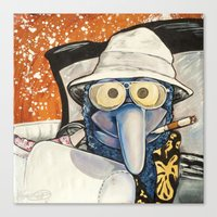 fear and loathing Canvas Prints featuring Fear & Loathing Gonzo by Kristal Serrano
