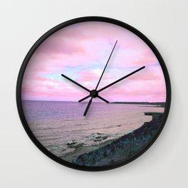 Pink World Wall Clock