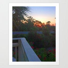 Sunrise from the Deck Art Print