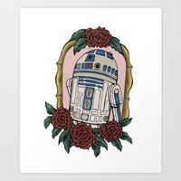 r2d2 Art Prints featuring R2D2 by Bare Wolfe