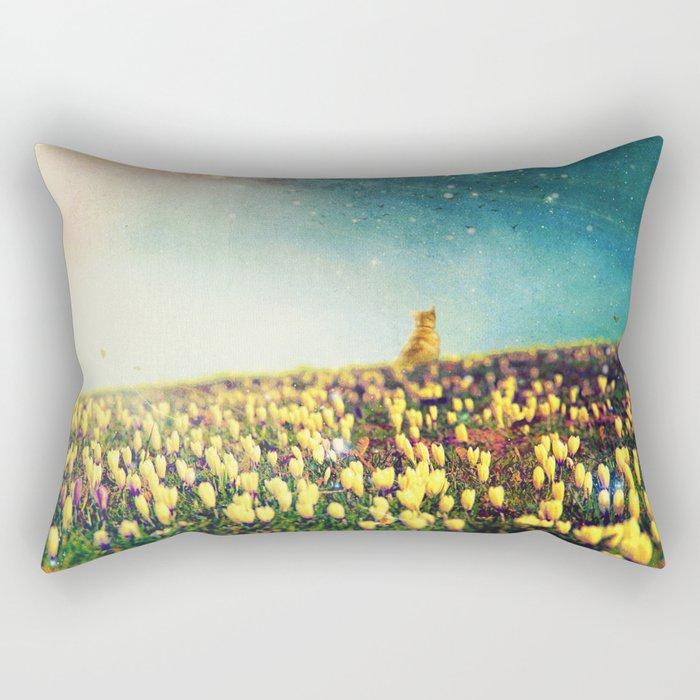Watching them fly Rectangular Pillow