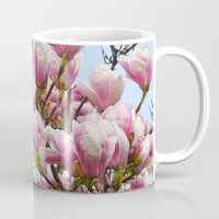 magnolia Mugs featuring Magnolia. by Assiyam