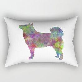 Norwegian Buhund in watercolor Rectangular Pillow