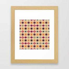 Seamless retro pattern geometrical vector texture background Framed Art Print