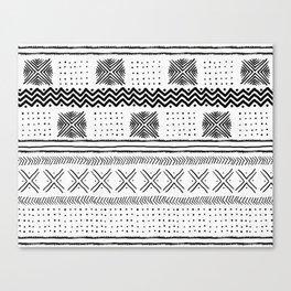 Mud Cloth Geometric Stripe Canvas Print