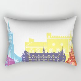 Odense skyline pop Rectangular Pillow
