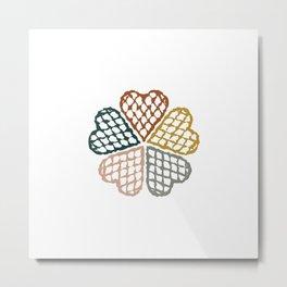 Color Waffle Metal Print